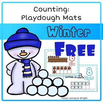 Winter Counting Playdough Mats
