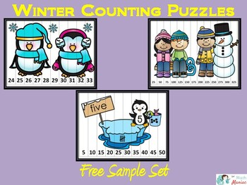 Winter Counting Puzzles Freebie