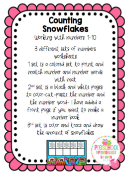 Winter Counting Snowflakes