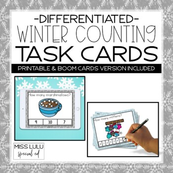 Winter Counting Task Cards {4 Levels}