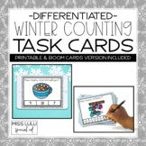 Winter Counting Task Cards {4 Levels for Differentiation}