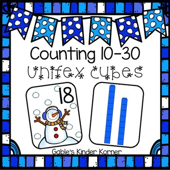 Winter Counting Unifex Cubes Activity
