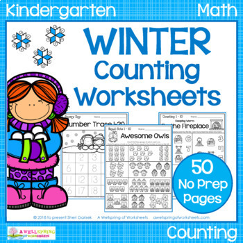 Winter Counting Worksheets
