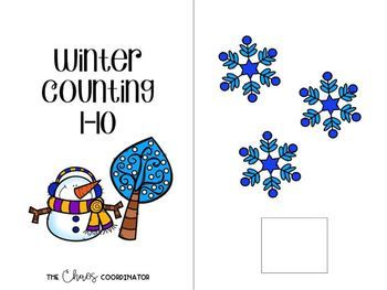 Winter Counting adapted book and worksheets