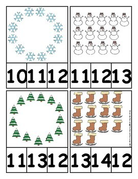 Winter Counting and Cardinality Centers for Kindergarten