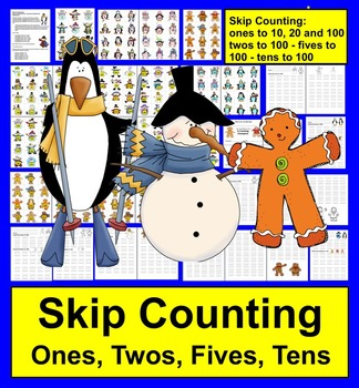 Winter Math: Counting and Skip Counting Kindergarten and Early First Grade