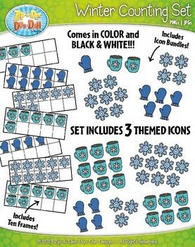 Winter Counting and Ten Frames Math Clipart {Zip-A-Dee-Doo-Dah Designs}