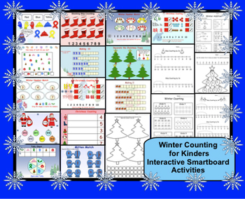 Winter Counting for Kinders Interactive Smartboard Activities