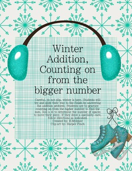 Addition Center with Counting On Winter Theme
