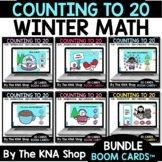 Winter Counting to 20 Boom Cards Distance Learning Bundle