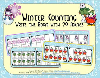 Winter Counting with 20 Frames {Subitizing}