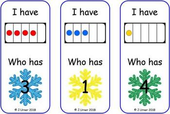 Winter Counting with 5 Frames Bundle {Subitizing}