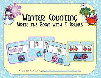 Winter Counting with 5 Frames {Subitizing}