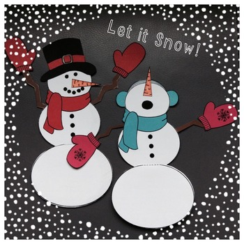 Winter Craft, Activities and Writing Prompts - Snowman