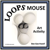 LOOPS MOUSE  Christmas Fraction Craft  (art activity with a little bit of math)