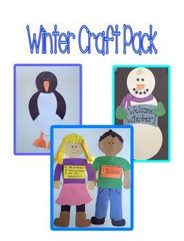 Winter Craft Pack - 3 Craft Bundle