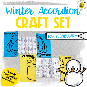Speech Therapy Winter Craft Set for Vocabulary