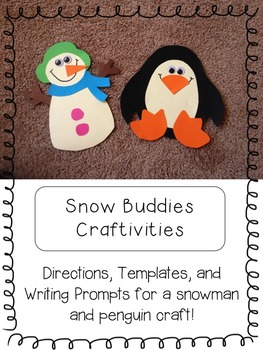 Winter Craftivities + Math and Literacy Printables