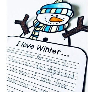 Winter Craftivity (3 Writing Prompts & Crafts)