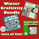 Winter Craftivity Bundle for speech and language therapy