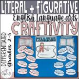 Winter Craftivity Hockey Literal vs. Figurative Language