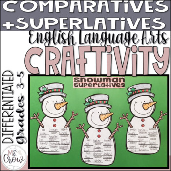 Winter Craftivity Snowman Superlatives