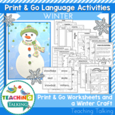 Winter Craftivity & Worksheets