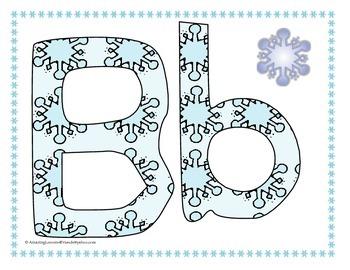 Winter Crazy Cold Day Alphabet Flash Cards