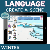 Winter Create a Scene Open-Ended Activities for Speech Therapy