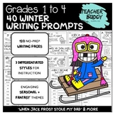 Winter Creative Writing Packet: Grades 1 to 4: NO PREP, Differentiated Styles