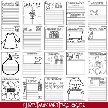 Winter Creative Writing Pages BUNDLE