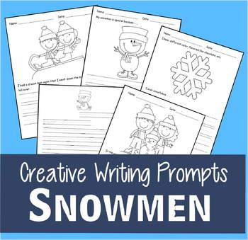Winter Creative Writing Prompts (Kindergarten, 1st Grade,