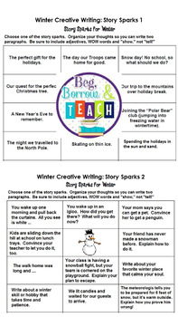 Winter Creative Writing Using Story Sparks