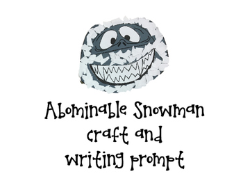 Winter Craftivity: abominable snowman and ice picker