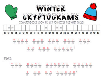 Winter Cryptograms