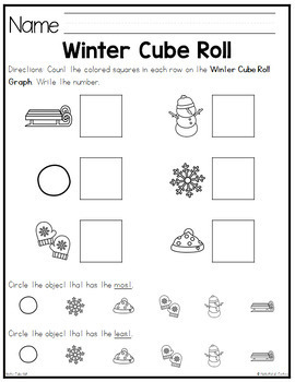 Winter Cube Roll Math Game