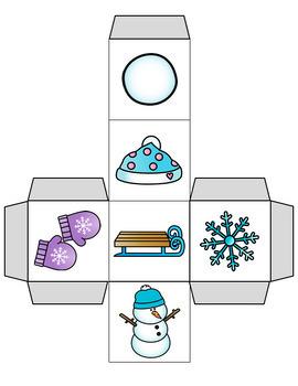 Winter Cube Roll Math Game