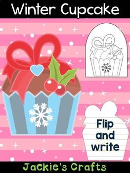 Winter Cupcake - Jackie's Crafts, Winter Activities, Christmas