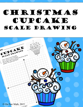 Winter Cupcake Scale Drawing
