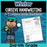 Winter Cursive Writing No-Prep