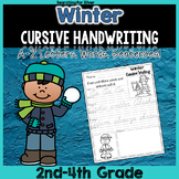 Winter Cursive Writing Printables