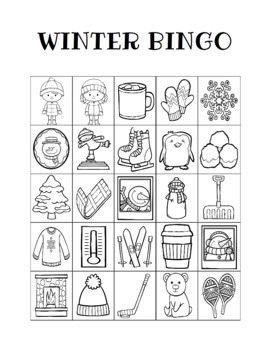 Crazy image for winter bingo cards free printable