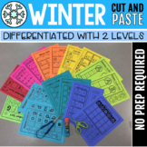 Winter Cut-And-Paste Activities (2 Levels) #spedstockingstuffer