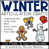 Winter Cut, Paste, & Say - Articulation Craftivities