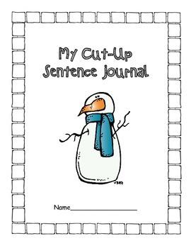 Winter Cut-Up Sentence Journal