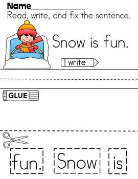 Winter Cut-Up Sentences