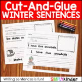 Winter Cut and Glue Sentences
