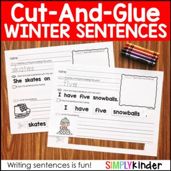 Winter Cut and Glue Sentences