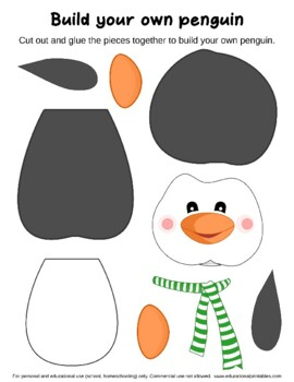 Winter Cut and Glue Worksheets