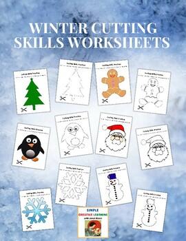 Winter Cutting Skills Worksheets